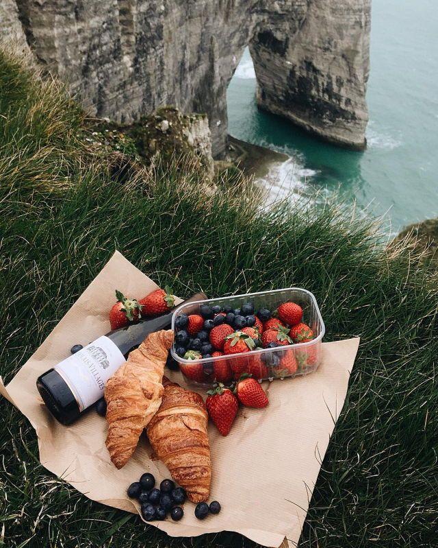Cliffside picnic.