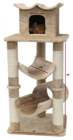 cat tower | Modern Cat Tower with Cradle and Tunnel