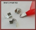 These Fold over and down Crimps make a nice finish on your ribbon projects.
