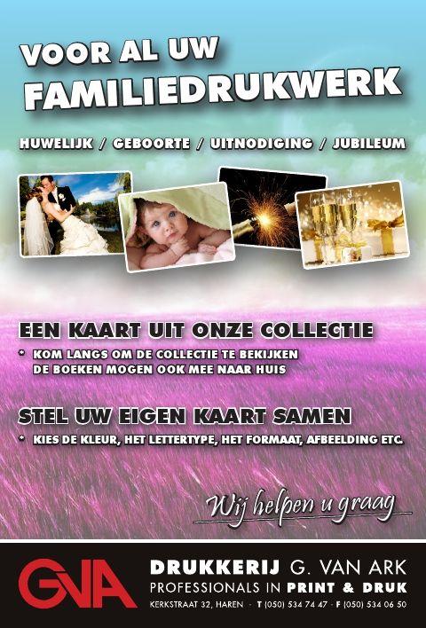 voor al uw familiedrukwerk. http://www.drukkerijvanark.nl/