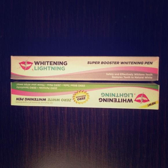 SOLD!!!Whitening lightning pens NEW! New! Get a whiter smile in 1-2 weeks. Great for sensitive teeth :) price negotiable  Whitening Lightning  Other