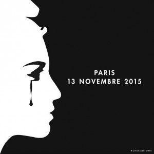 Deuil national suite aux attentats du 13 Novembre 2015 à Paris