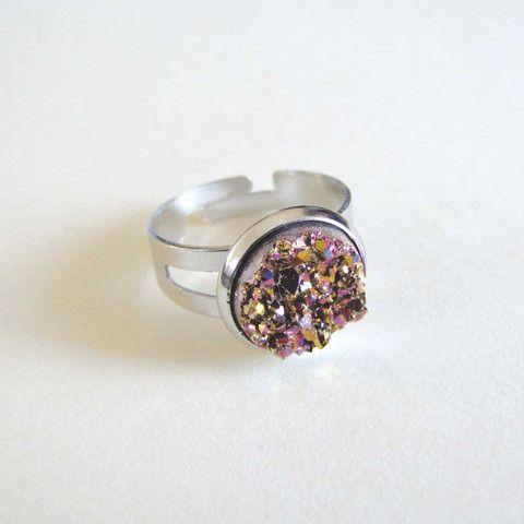 Faux Druzy Ring - Rose Gold only $5 @ OMG! Cute Kitten - Australian Handmade Jewellery