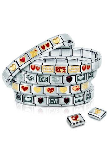 Bracciali Composable in acciaio e oro, Nomination (da € 25)