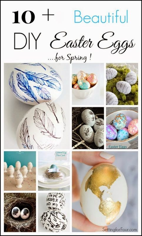 DIY easter egg ideas for spring