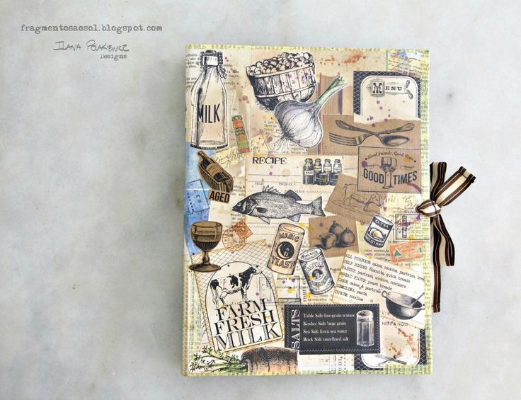 DIY Decorated Recipe Binder. Lots of Tattered Angels paints and some Canvas Corp papers!