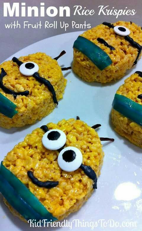Minions with rice crispies