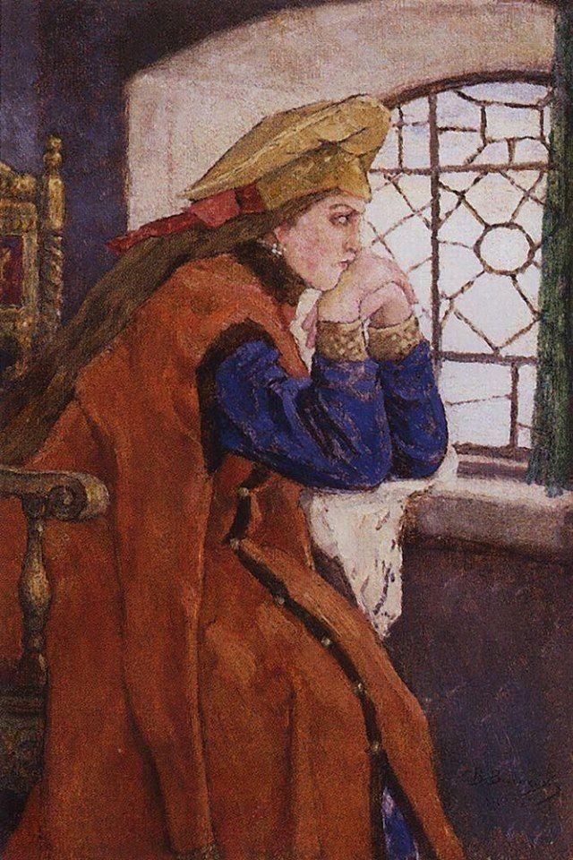 Виктор Михайлович Васнецов 1920 Царевна у окна (Царевна Несмеяна).