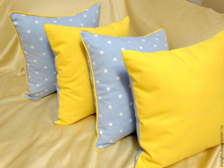 Купить Детские подушки Горошинки - подушки декоративные, детские подушки, детская комната, ткань в горошек