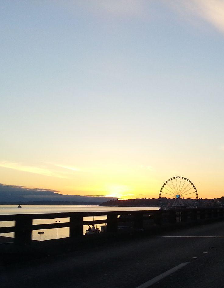 Sunset in Seattle, Washington (www.beautifulview.org)