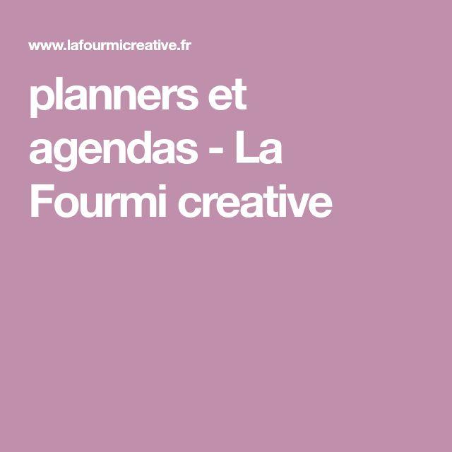 planners et agendas - La Fourmi creative