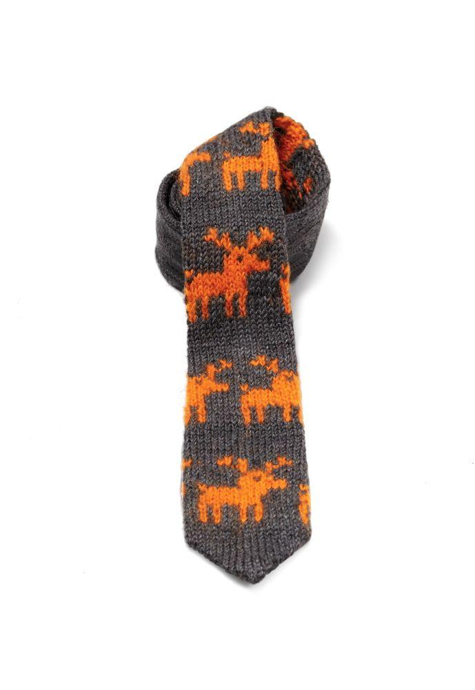 Tie in a moose pattern