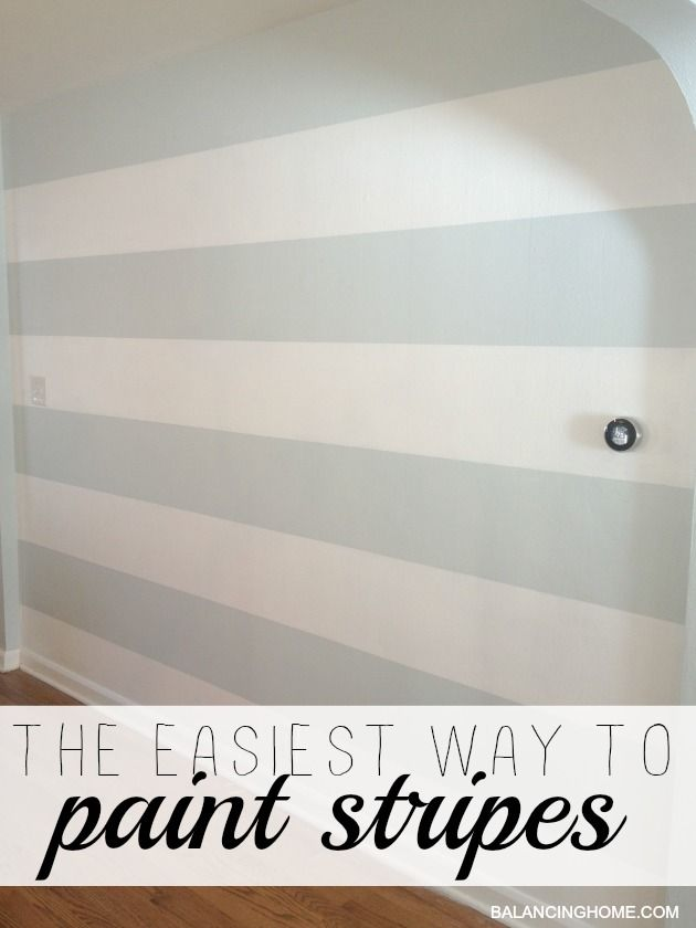 How to Paint Stripes #DIY #homedecor #painting