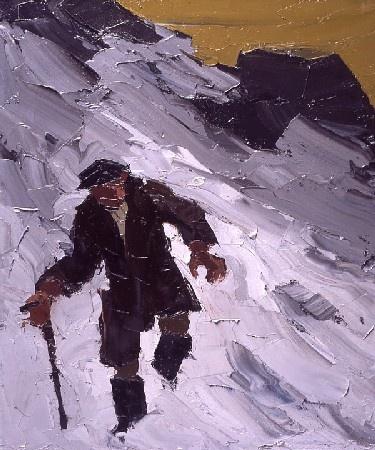 Kyffin Williams John Jones in the Snow