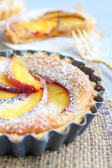 peach and cardamom tart