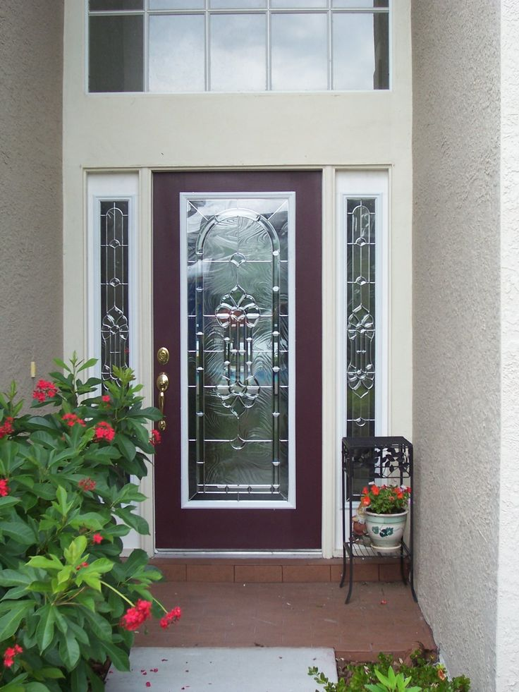 Red Door With Glass : Best images about red doors on front entryways