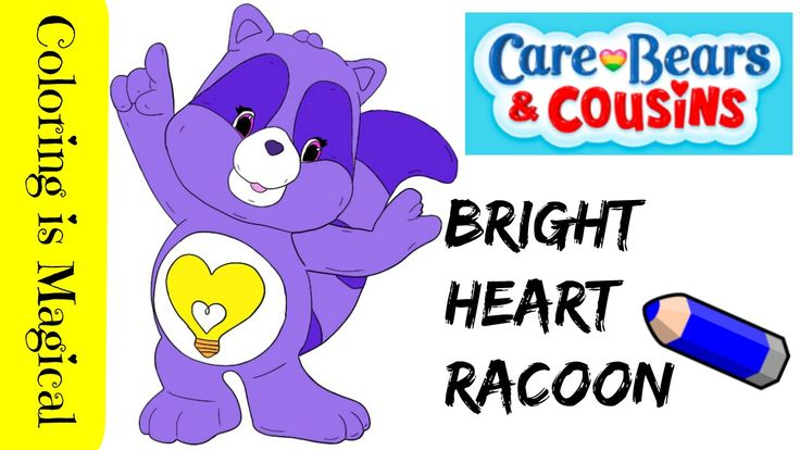Care Bears Cousins Bright Heart Raccoon in 2020 Care