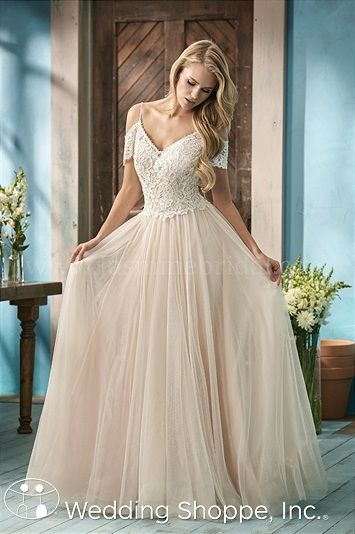 Jasmine A-line English Net F191053 Wedding Dress