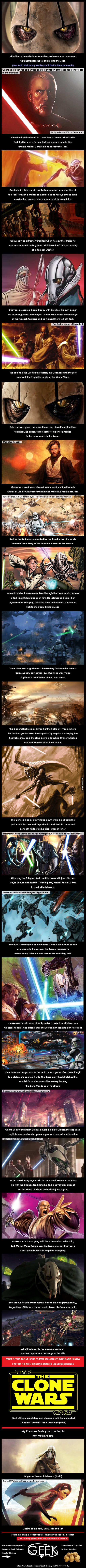Origins of General Grievous (Part II) Star Wars History