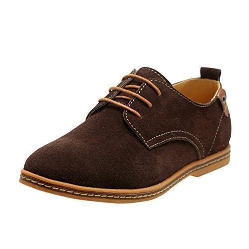 Oferta: 27.49€. Comprar Ofertas de YiJee Hombre Talla Extra Ocio Zapatillas Cordones de los Oxfords Zapatos Marrón 46 barato. ¡Mira las ofertas!