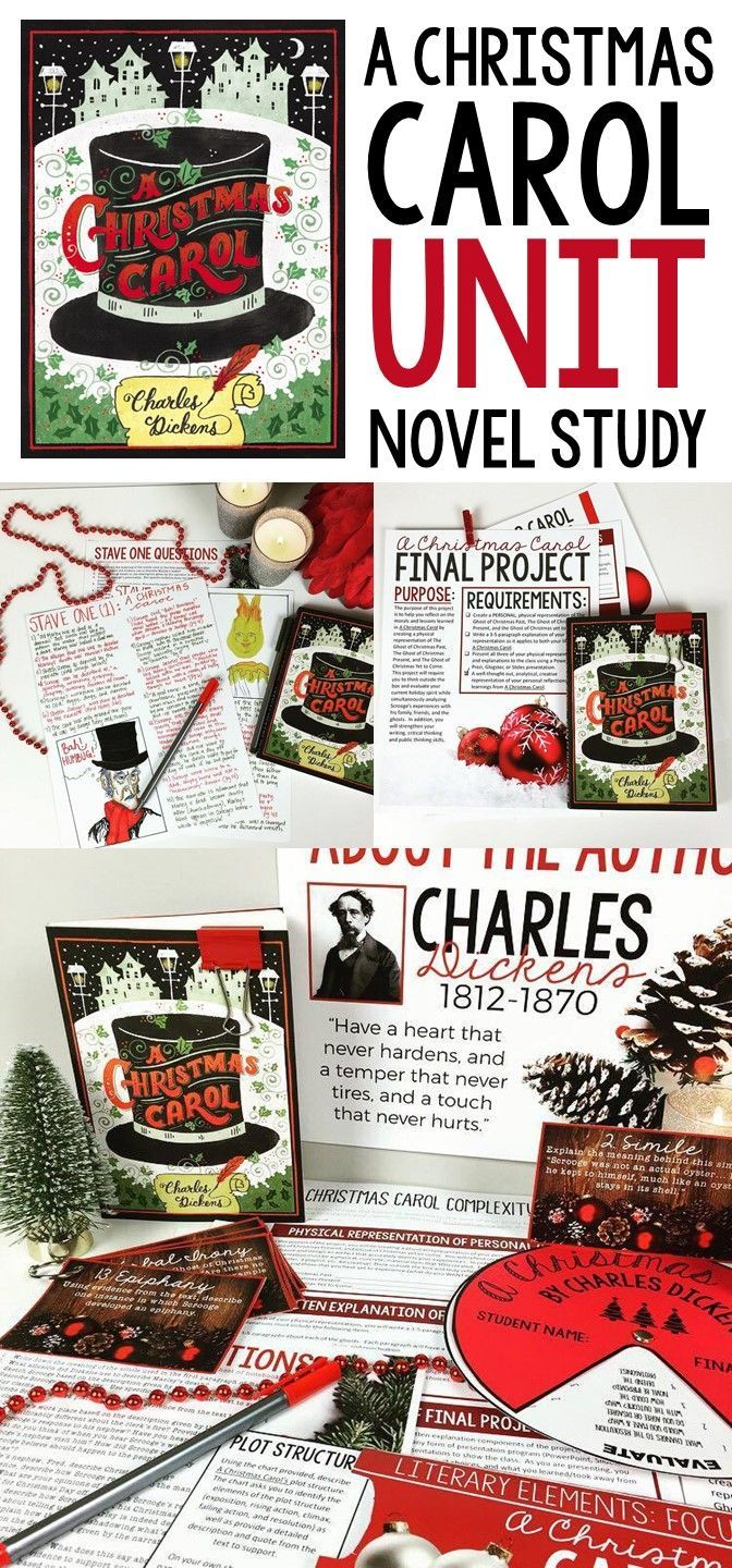 A Christmas Carol Unit | Activities and Lessons | Middle and high school | Grades 7-12 | Charles Dickens
