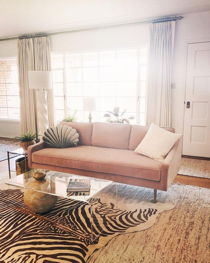 mirage blush pink sofa in 2020  pink sofa zebra living