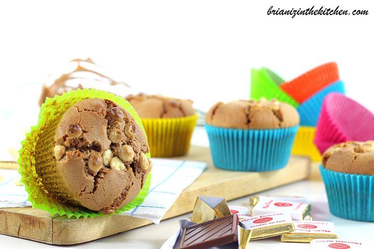 Muffins au Chocolat au Lait & Pépites de Chocolat Blanc - La Mère Poulard