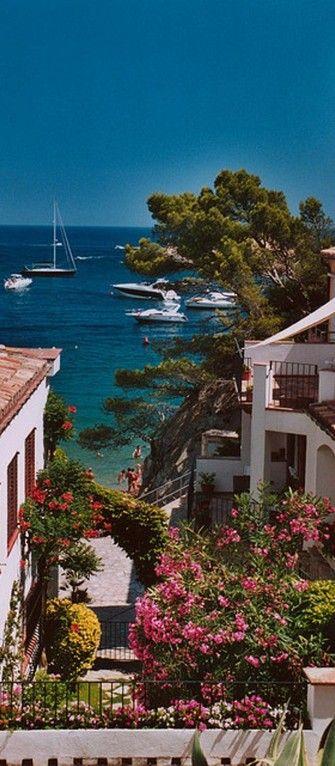 Scenic view on the Costa Brava of Begur, Spai