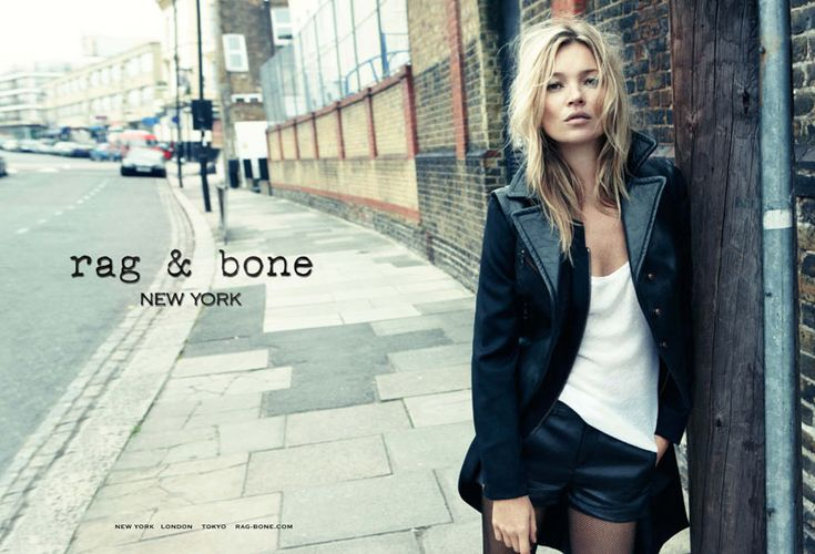 Need this leather jacket, leather shorts and plain white top!  Kate Moss Hits the Streets for Rag & Bone's Fall 2012 Campaign by Craig McDean
