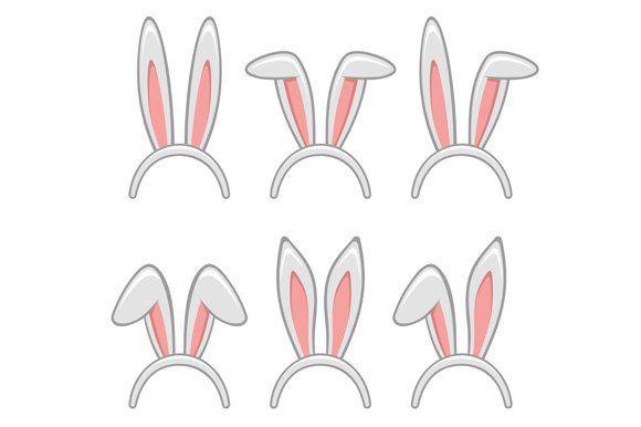 Easter Rabbit Ears Masks Set Orelhas De Coelho Coelho Desenho