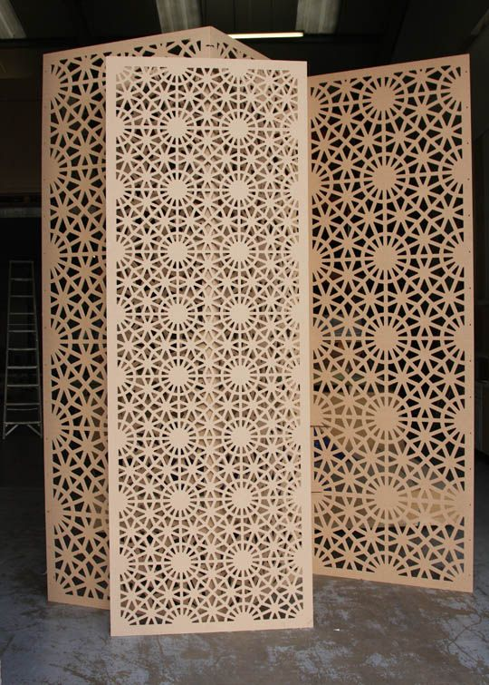 Laser cut wood panels