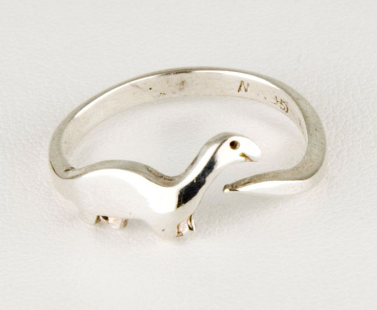 Want! - Dinosaur Sterling Silver Ring by JanPalomboDesign on Etsy, $34.00