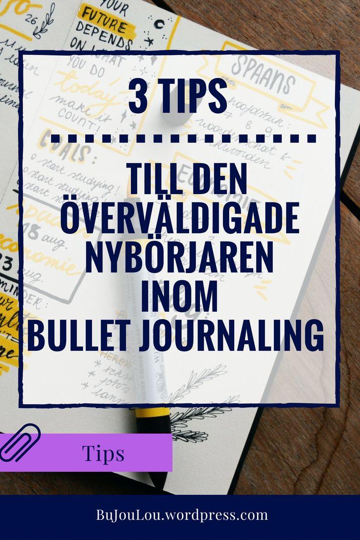 Bullet Journal, BuJo, Tips, Nybörjare #beginner, #Bulletjournal, #tips, #bujosverige, #bujo, #inspire, #education