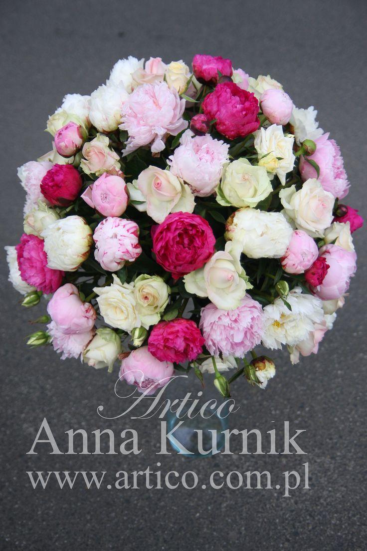 dekoracje ślubne, Kraków i Małopolska, dekoracje, kompozycje ślubne, piwonie, róże,