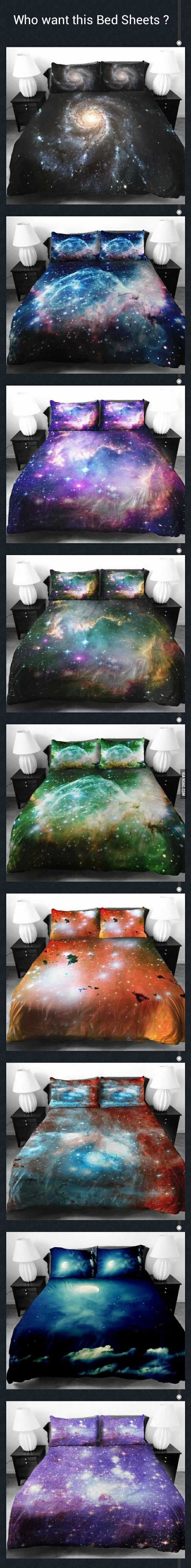 Who want these Universe Bed Sheets? Shut up & take my money!