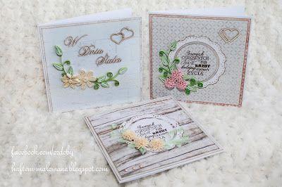 Rękodzieło z pasją: Kartki ślubne - quilling
