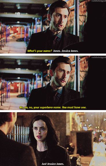"""Your superhero name. You must have one"" - Kilgrave and #JessicaJones"