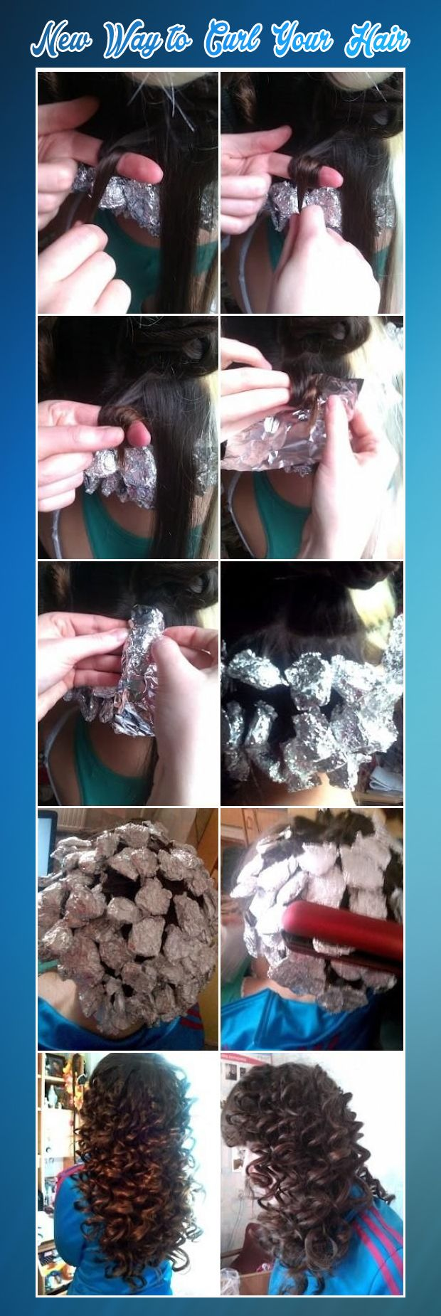 New  Way to  Curl  Your  Hair  With  Foil