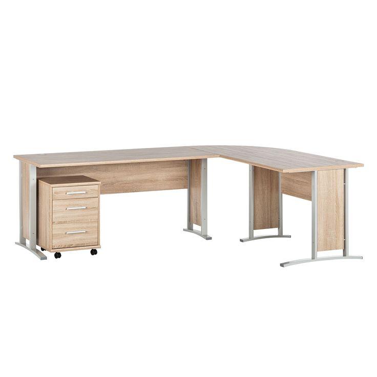 Schreibtischkombination Office Line (4-teilig) - Eiche Sonoma Dekor