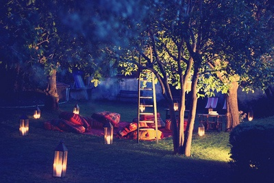 Our yard just like this and then there are those camping trips of course