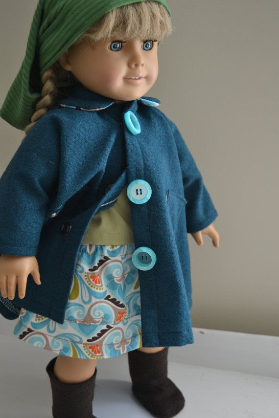 American Girl Doll Hand Made Wool Coat 5 Piece by LittlePort, $40.00