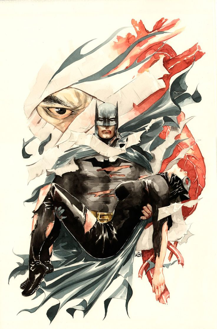 Batman and Catwoman by Dustin Nguyen