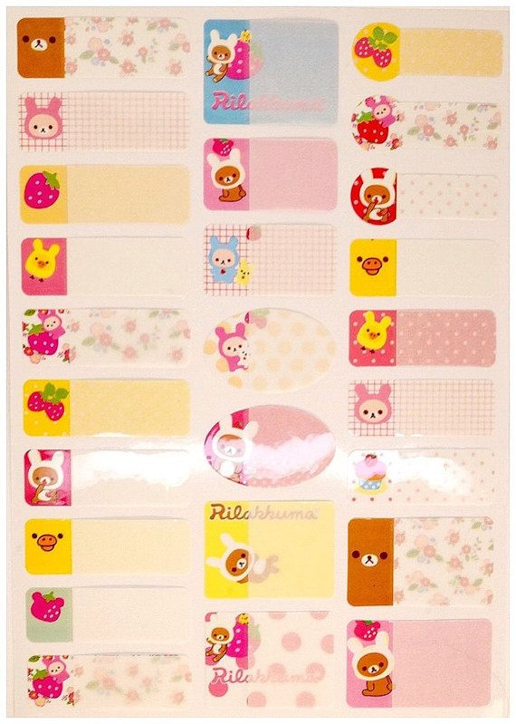 Cute kawaii RILAKKUMA 26 sticker set japan by MyChildhoodDream