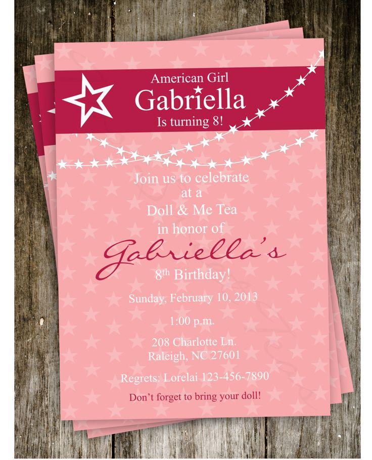 Best 25 Girl birthday invitations ideas – Girl Birthday Party Invitation