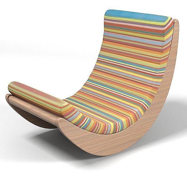 3d matzform verner panton model - matzform verner panton relaxer modern contemporary rocking... by archstyle