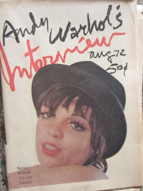 ANDY WARHOL'S INTERVIEW #24 AUGUST 1972 / Cover Liza Minelli Tabloid, 56 Pages Editiors: Andy Warhol/Paul Morrisey/Fred Hughes Cover Design: Richard Bernstein incl. Bianca Jagger, Marjoe, Liza Minelli, The Dolls, Joan Blondell...and more.
