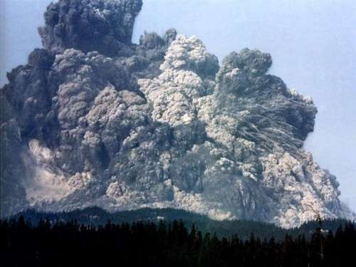 Pyroclastic flow...will kill you in painful, choking, poisoned gas plus the burning of your lungs.