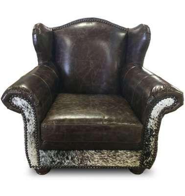Bon Cowhide Leather Chair!