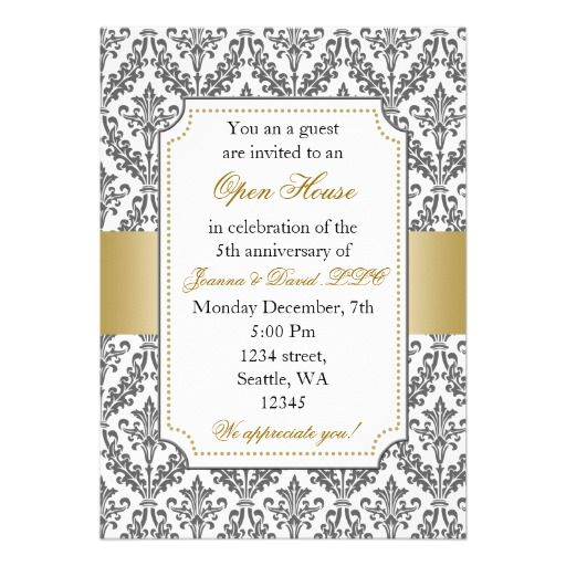 20 best open house business invitations images on pinterest elegant corporate party invitation stopboris Gallery