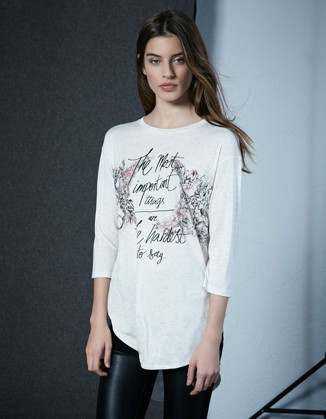 Printed T Shirts Woman Woman Bershka Ireland
